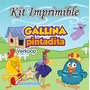 Kit Imprimible Gallina Pintadita + Candy Bar Fiesta Ar