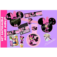 Kit Imprimible Minnie Mouse Mimi Tarjetas Candy Bar #8