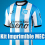 Kit Imprimible Racing Club Candy Futbol Tarjeta Invitacion