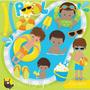 Kit Imprimible Fiesta Piletas Verano 10 Imagenes Clipart