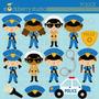 Kit Imprimible Policias Imagenes Clipart