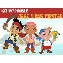 Kit Imprimible Jake Y Los Piratas, Todas Las Golosinas
