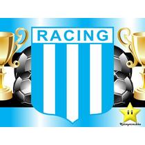 Kit Imprimible Racing Club Diseñá Tarjetas Cumples Y Mas