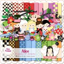 Kit Imprimible Alicia El Pais De Las Maravillas 4 Imagenes