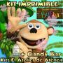 Kit Imprimible Mono Bubba Candy Bar Golosinas Invitacion 2x1