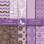 Kit Imprimible Pack Fondos Lilas Violeta 3 Clipart