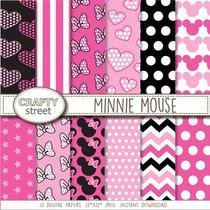Kit Imprimible Pack Fondos Minnie Mouse Clipart