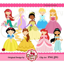 Kit Imprimible Princesas Disney 11 Imagenes Clipart
