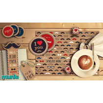 Kit Imprimible Día Del Padre Bigotes Anteojos Vintage