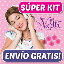 Super Kit Imprimible Violetta - Tarjetas, Cotillón, Cumples!
