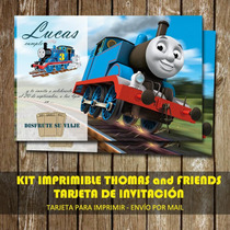 Kit Imprimible Tarjeta De Invitacion Personalizada Thomas