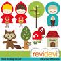 Kit Imprimible Caperucita Roja 5 Imagenes Clipart