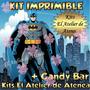 Kit Imprimible Batman Diseñá Tarjetas Candy Bar Golosina 2x1