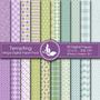 Kit Imprimible Pack Fondos Lilas Violeta 4 Clipart