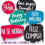 Photo Booth Cumpleaños Imprimible 20 Frases Props