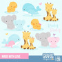 Kit Imprimible Animalitos Bebes 9 Imagenes Clipart