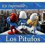 Kit Imprimible Pitufos La Pelicula 3d Smurfs Invitaciones Ar