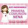 Kit Imprimible Primera Comunión Personalizado Y Modificable
