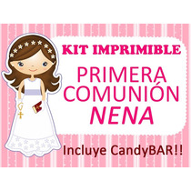Kit Imprimible Primera Comunión Personalizado Y Modificable