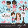 Kit Imprimible San Valentin Corazones 26 Imagenes Clipart