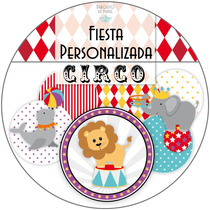 Kit Imprimible Personalizado + Candy Bar Circo Completo