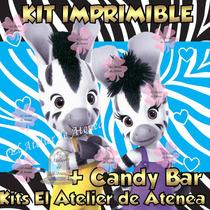 Kit Imprimible Zou La Cebra Candy Bar Invitaciones Y Mas 2x1