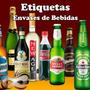 Kit Imprimible Etiquetas Bebidas