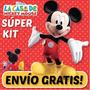 Super Kit Imprimible Casa Mickey Mouse. Invitaciones, Cumple