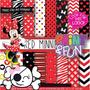 Kit Imprimible Pack Fondos Minnie Mouse 4 Clipart