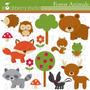 Kit Imprimible Animalitos De La Selva 7 Imagenes Clipart