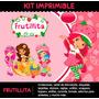 Kit Imprimible Frutillita 2x1 !! Cumple Tarjetas Candybar