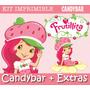 Kit Imprimible Frutillitas - Candy Bar Invitaciones + Extras