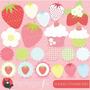 Kit Imprimible Frutillitas 2 Imagenes Clipart