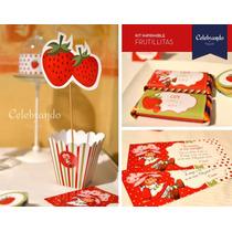 Kit Imprimible Frutillitas - 100% Diseño
