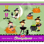 Kit Imprimible Halloween 15 Imagenes Clipart