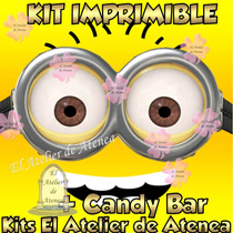 Kit Imprimible Mi Villano Minions Favorito Candy Bar 2x1
