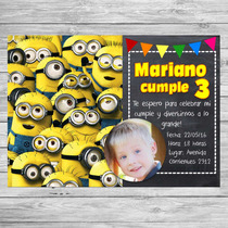 Kit Imprimible Minions Mi Villano Favorito Candy Bar Invitac