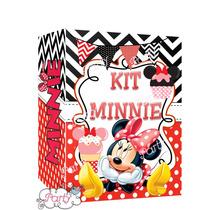 Kit Imprimible Minnie Mouse Roja Único Miralo!