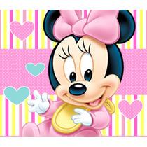 Kit Imprimible Minnie Bebe Invitaciones Candy Bar Cotillon