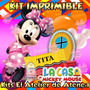 Kit Imprimible Candy Bar Minnie Mouse La Casa De Mickey 2x1