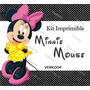 Kit Imprimible Minnie Mouse Invitaciones Tarjetas Frames Ar