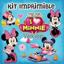 Kit Imprimible La Casa De Minnie Mouse Personaliza Tu Fiesta
