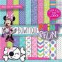 Kit Imprimible Pack Fondos Minnie Mouse 2 Clipart