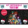 Kit Imprimible Editable Monster High, Golosinas Sticker