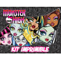 Kit Imprimible Monsters Higs - Tarjetas - Incluye Candy Bar