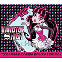 Monster High Candy Bar Cajitas Decoraciones Imprimibles