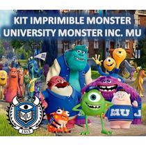 Kit Imprimible Monster University Monster Inc. Mu