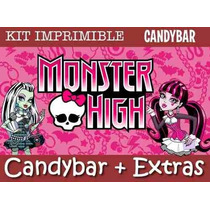 Kit Imprimible Monster High - Candy Bar + Extras