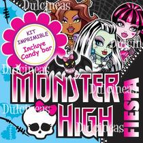 Kit Imprimible Monster High Textos Editable