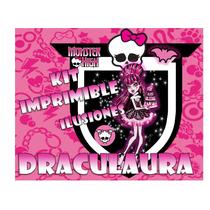 Megakit Imprimible Draculaura De Monster High Tarjetas Cajas